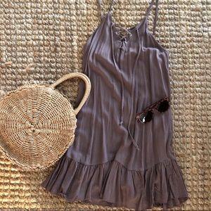 Lavender Lace Up Dress